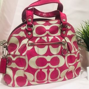 Coach  Satchel Fuchsia Handbag Used